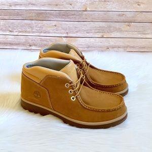 Timberland Wheat Newtonbrook Moc Toe Chukka Boots